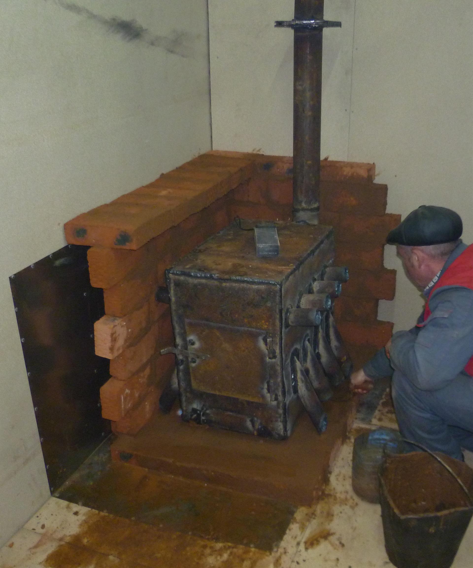 Отопление гаража дровами своими руками